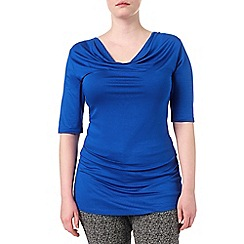 Studio 8 - Sizes 16-24 Cobalt camilla cowl top