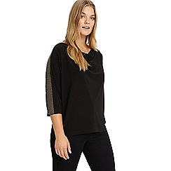 Studio 8 - Sizes 12-26 Black hannah beaded trim top