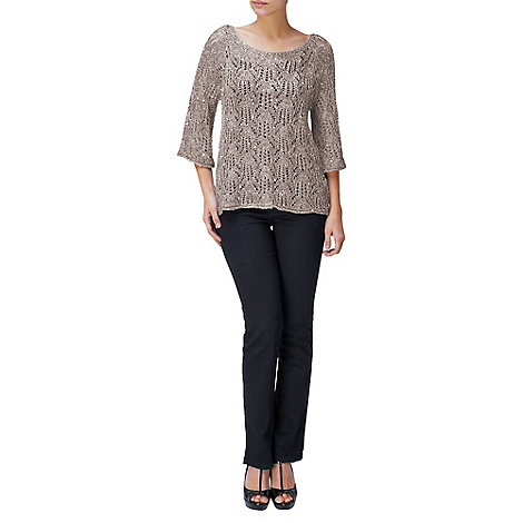 Phase Eight - Taupe Paulina Pointelle Sequin Jumper