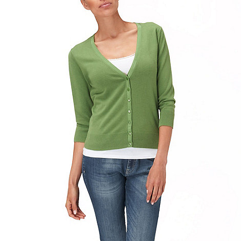 Phase Eight - Palm carrie simple v-neck cardigan
