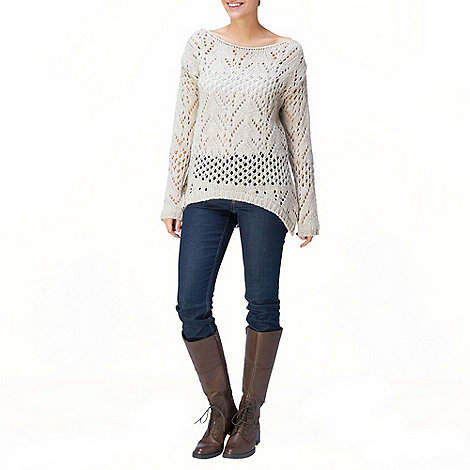 Phase Eight - Stone Faye Pointelle Chunky Jumper