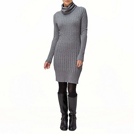 Phase Eight - Charcoal Cowl Cable Tunic