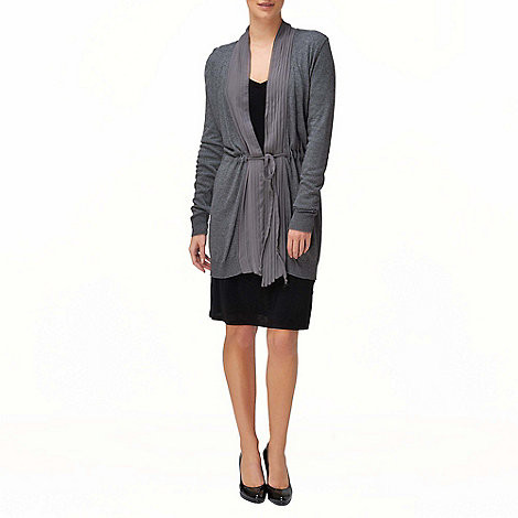 Phase Eight - Grey Marl Whitney Woven Pleat Cardigan
