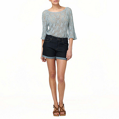 Phase Eight - Ice Blue Wendy Wavy Pointelle Jumper