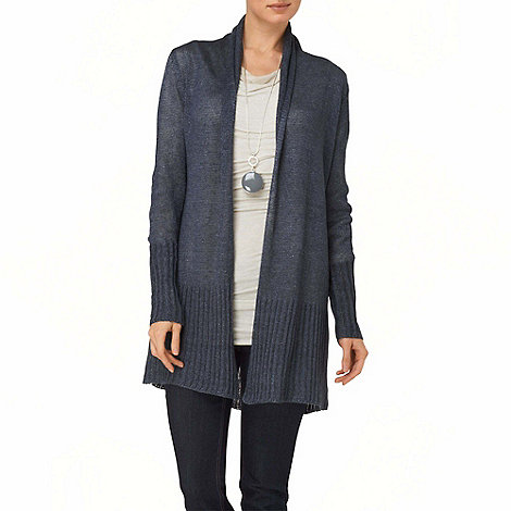 Phase Eight - Slate Blue leona washed linen cardigan
