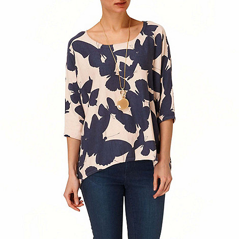 Phase Eight - Navy and Natural belle butterfly jumper