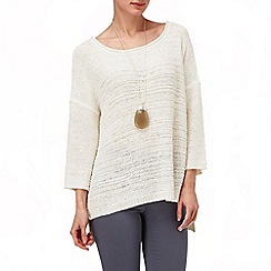 Phase Eight - Ivory tia textured tape jumper