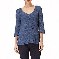 Phase Eight - Bluebell phoebe pretty stitch knit jumper