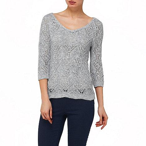 Phase Eight - Blue and Grey Marl shreya stitch knit jumper