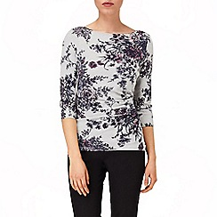 Phase Eight - Silver chrysanthemum knit top