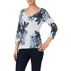 Phase Eight - Vapour blue horley rose print jumper