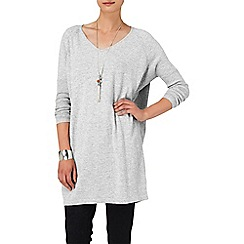 Phase Eight - Grey Marl vienna v neck tunic
