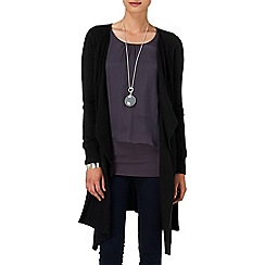 Phase Eight - Black wren waterfall cardigan