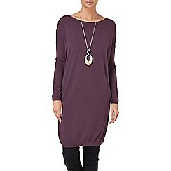 Phase Eight - Blackberry mollie mix knit tunic