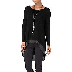Phase Eight - Black danni double layer jumper