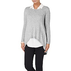 Phase Eight - Grey marl susie layer shirt jumper