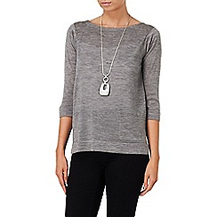 Phase Eight - Grey Marl naomi zip back jumper