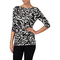 Phase Eight - Black and Grey hollie butterfly jumper