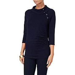 Phase Eight - Navy shaniya split neck jumper