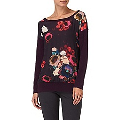 Phase Eight - Blackberry maisie print jumper