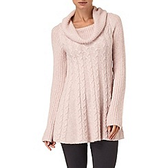 Phase Eight - Pale Pink coral cable swing jumper