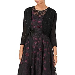 Phase Eight - Black sarina sequin shrug