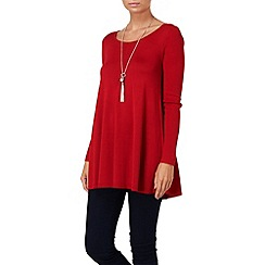 Phase Eight - Deep Red cali swing knit jumper