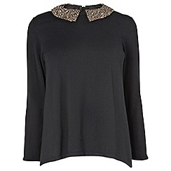 Phase Eight - Black sadie diamante collar jumper