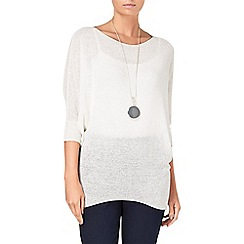 Phase Eight - Ivory tape yarn becca batwing jumper