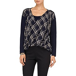 Phase Eight - Navy tori twist check jumper