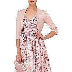 Phase Eight - Confetti pink shawl collar bolero
