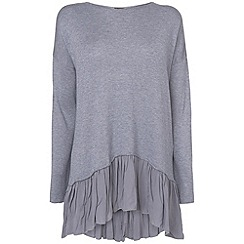 Phase Eight - Denim livia frill hem knit jumper