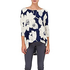 Phase Eight - Ink and ivory margo print knit jumper