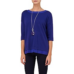 Phase Eight - Amparo blue ariana boxy knit top
