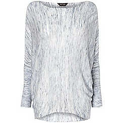 Phase Eight - Ivory and slate space dye becca batwing jumper