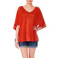Phase Eight - Alia cape sleeve linen knit top