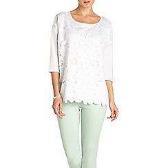 Phase Eight - Lainey Lace Panel Knit