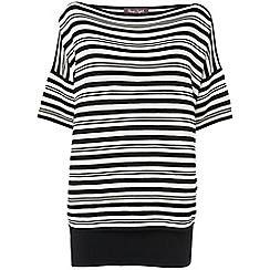 Phase Eight - Black and Ivory ivanna stripe double layer knit jumper