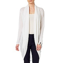 Phase Eight - White eira ellipse hem cardigan