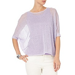 Phase Eight - Soft Lilac sana sheer knit top