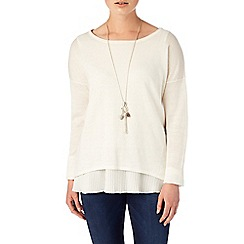 Phase Eight - Ivory claudia pleat knit jumper