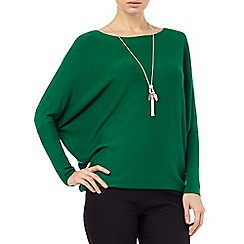 Phase Eight - Green becca batwing long sleeved jumper