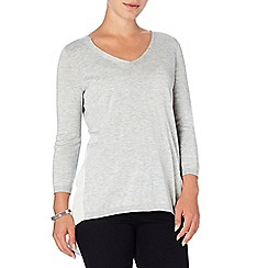 Phase Eight - Grey Marl piper pleat back knit top