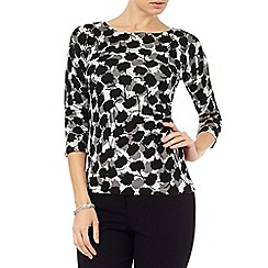 Phase Eight - Leilani print knit top