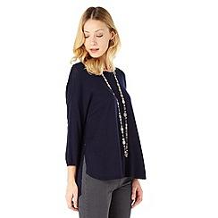 Phase Eight - Navy christina side split knit top