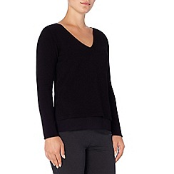 Phase Eight - Soraya woven trim v neck knit