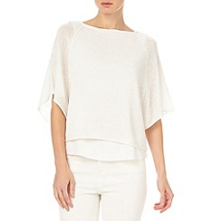 Phase Eight - White patrizia double layer knit top