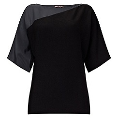 Phase Eight - Black and Charcoal alessa asymmetric knit top
