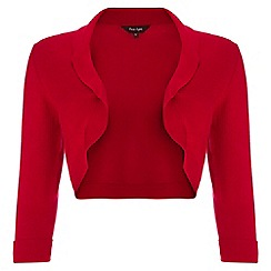 Phase Eight - Red shawl collar bolero