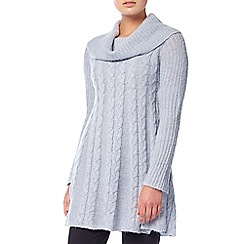 Phase Eight - Soft Blue coral cable swing knit jumper